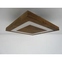 thumb-kleine Deckenleuchte Holz Akazie LED  20 x 20 cm-7