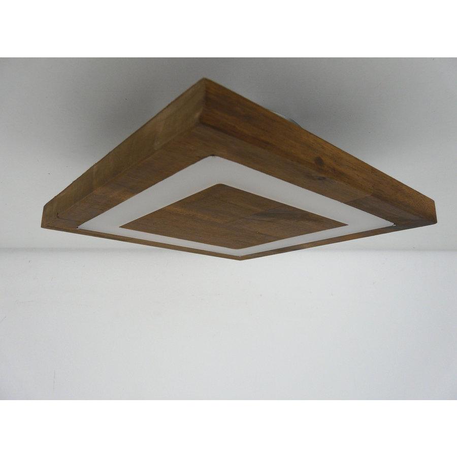 kleine Deckenleuchte Holz Akazie LED  20 x 20 cm-7