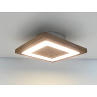 thumb-kleine Deckenleuchte Holz Akazie LED  20 x 20 cm-2