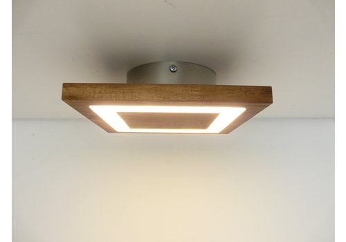 kleine Deckenleuchte Holz Akazie LED  20 x 20 cm