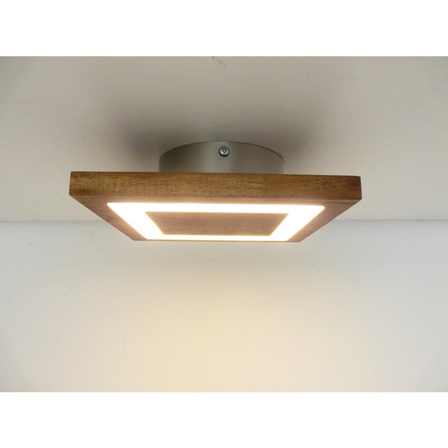 kleine Deckenleuchte Holz Akazie LED  20 x 20 cm-1