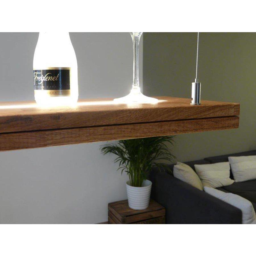 Hängelampe Holz Eiche geölt mit Ober und Unterlicht-4