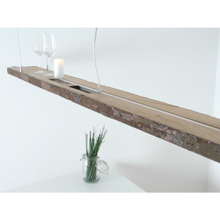 XXL LED Lampe Hängelampe Holz antik Balken-4