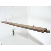 thumb-XXL LED Lampe Hängelampe Holz antik Balken-5