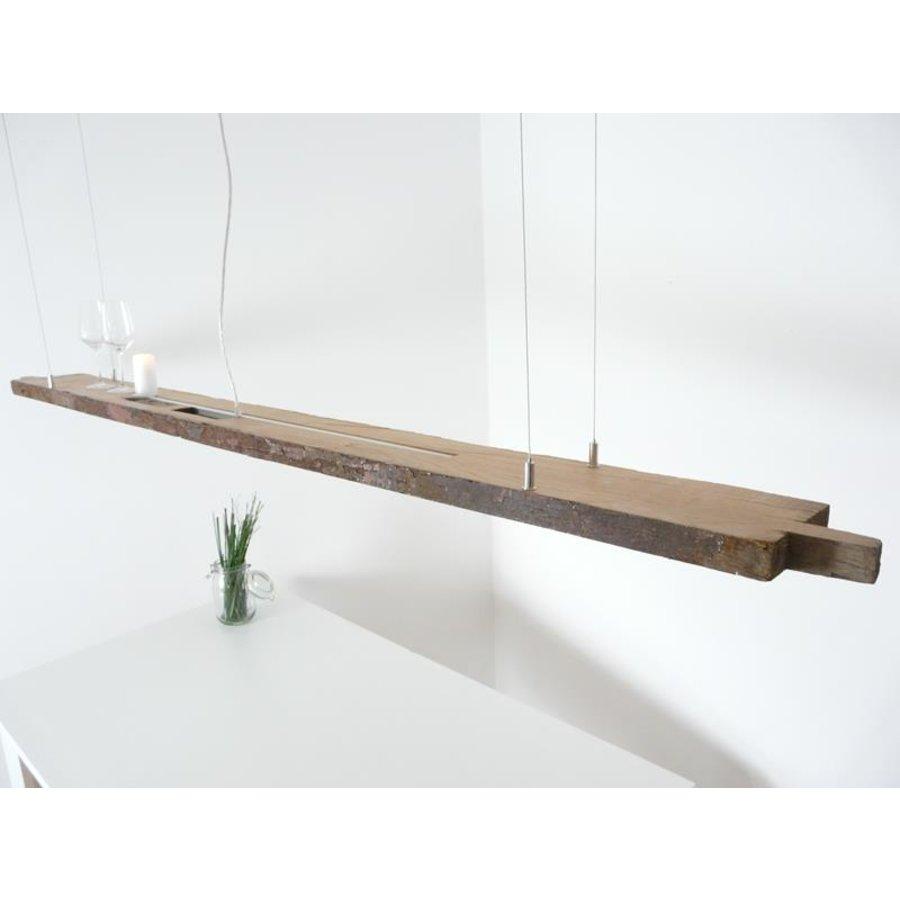 XXL LED Lampe Hängelampe Holz antik Balken-5
