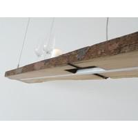 thumb-XXL LED Lampe Hängelampe Holz antik Balken-6