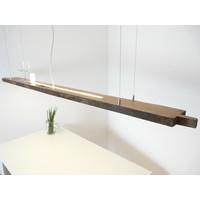 thumb-XXL LED Lampe Hängelampe Holz antik Balken-1