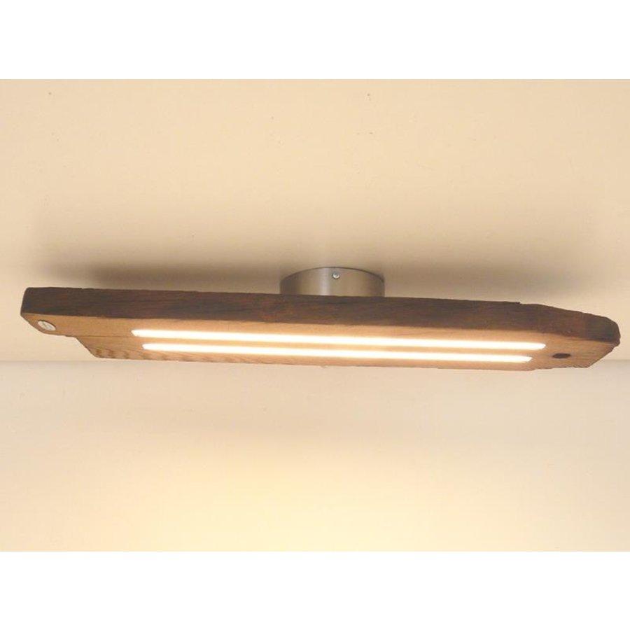 Led Deckenlampe aus antiken Eichenbalken-2