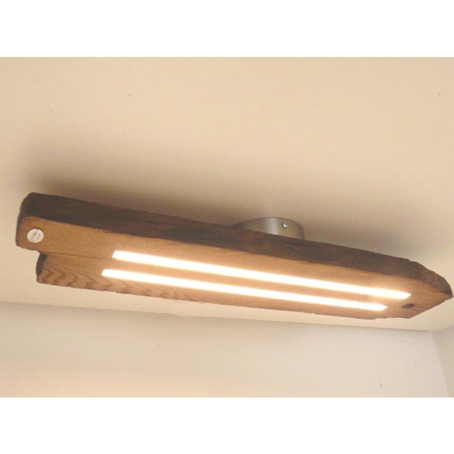 Led Deckenlampe aus antiken Eichenbalken-3