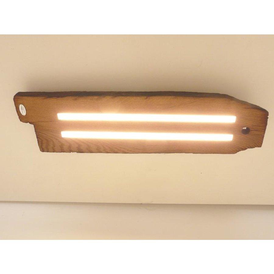 Led Deckenlampe aus antiken Eichenbalken-4