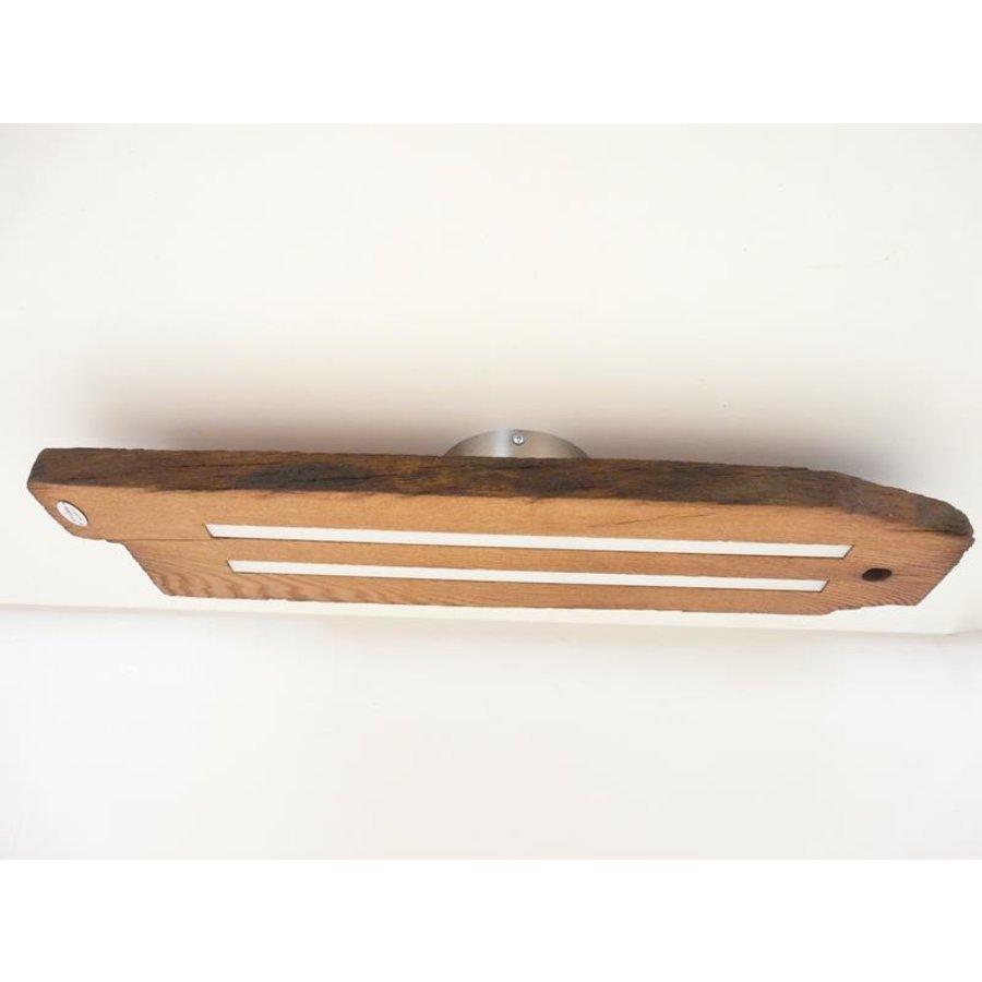 Led Deckenlampe aus antiken Eichenbalken-5
