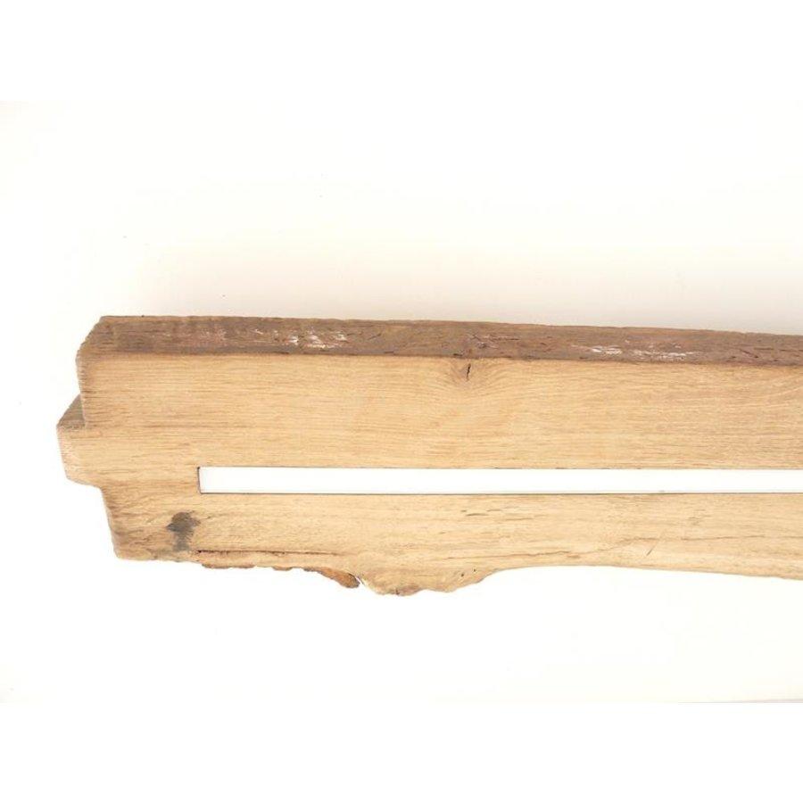 Led Deckenleuchte aus antiken Eichenholz-5