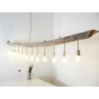 thumb-große Schwemmholzlampe mit Porzellanfassungen-2