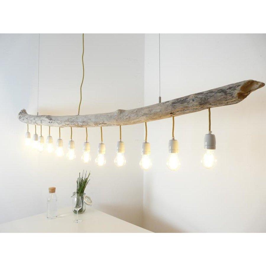große Schwemmholzlampe mit Porzellanfassungen-2