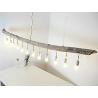 thumb-große Schwemmholzlampe mit Porzellanfassungen-4