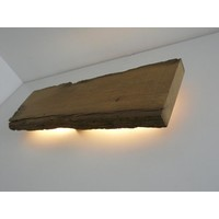 thumb-Led Wandlampe aus antiken Holz-6