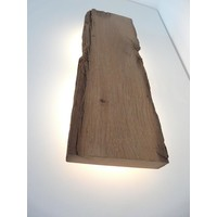 thumb-Led Wandlampe aus antiken Holz-3