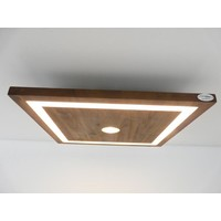 thumb-LED Deckenleuchte Holz Akazie 30 cm x 30 cm-1