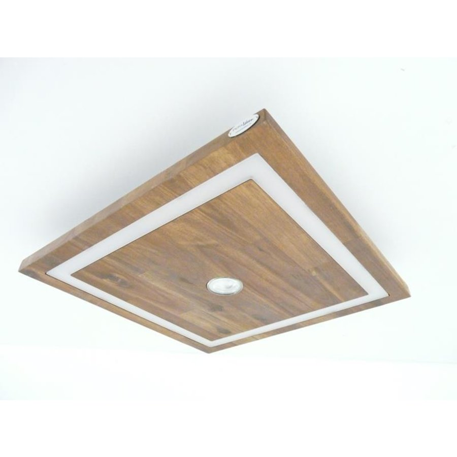 LED Deckenleuchte Holz Akazie 30 cm x 30 cm-5