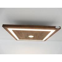 thumb-kleine LED Deckenleuchte Holz Akazie 20 cm x 20 cm-2