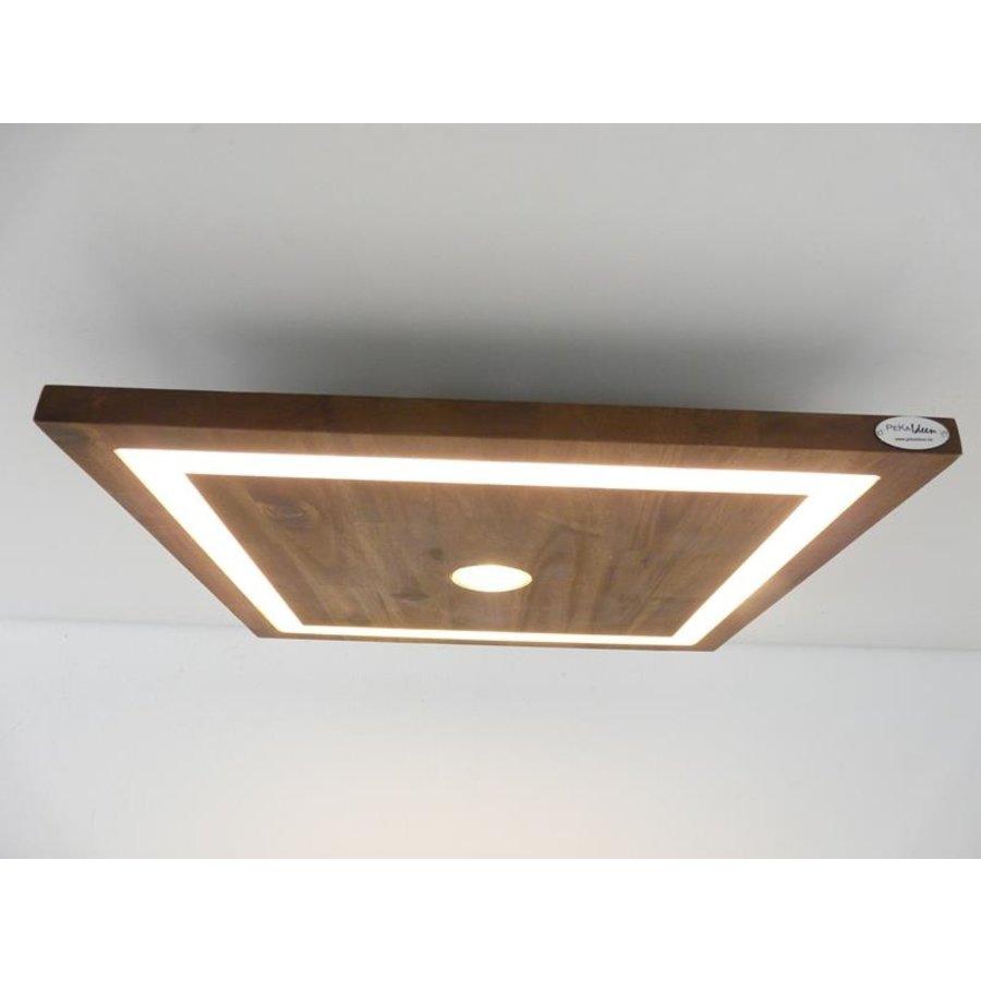 kleine LED Deckenleuchte Holz Akazie 20 cm x 20 cm-2
