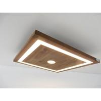 thumb-kleine LED Deckenleuchte Holz Akazie 20 cm x 20 cm-1