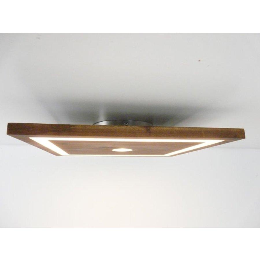 kleine LED Deckenleuchte Holz Akazie 20 cm x 20 cm-3