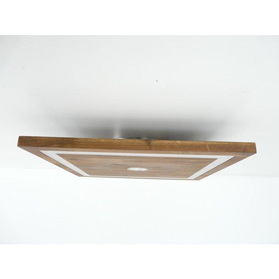 kleine LED Deckenleuchte Holz Akazie 20 cm x 20 cm-4