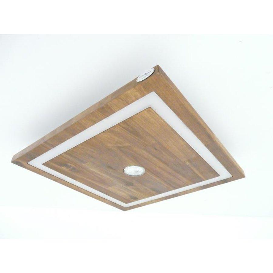 kleine LED Deckenleuchte Holz Akazie 20 cm x 20 cm-5