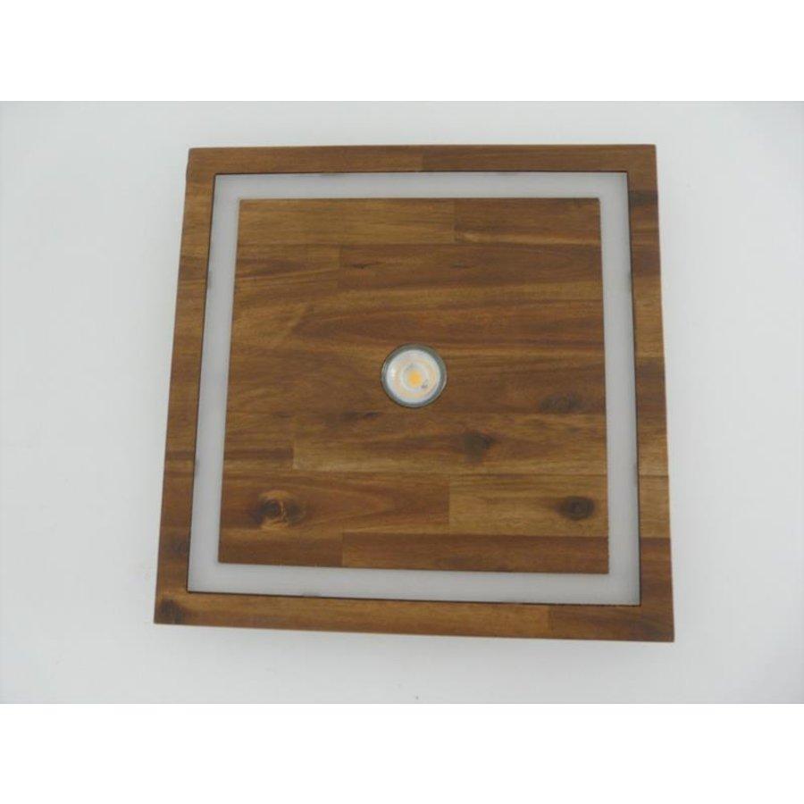 kleine LED Deckenleuchte Holz Akazie 20 cm x 20 cm-6