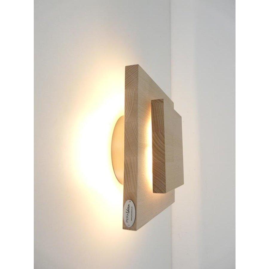 Led Wandleuchte Holz Buche-2