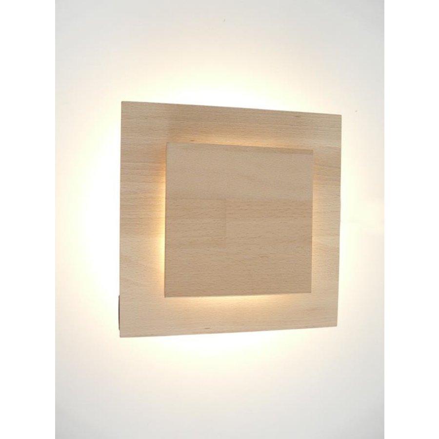 Led Wandleuchte Holz Buche-3