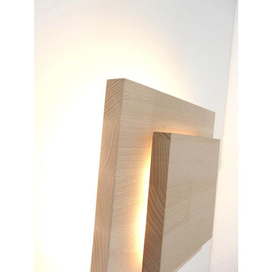 Led Wandleuchte Holz Buche-4