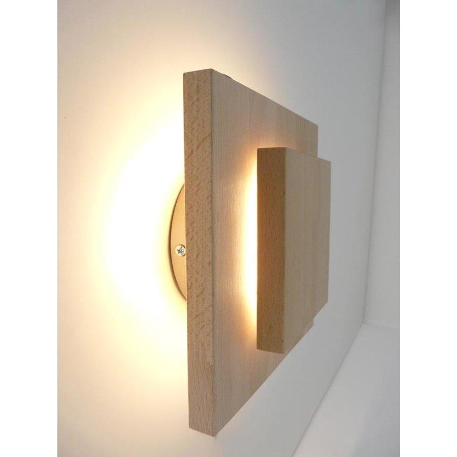 Led Wandleuchte Holz Buche-1