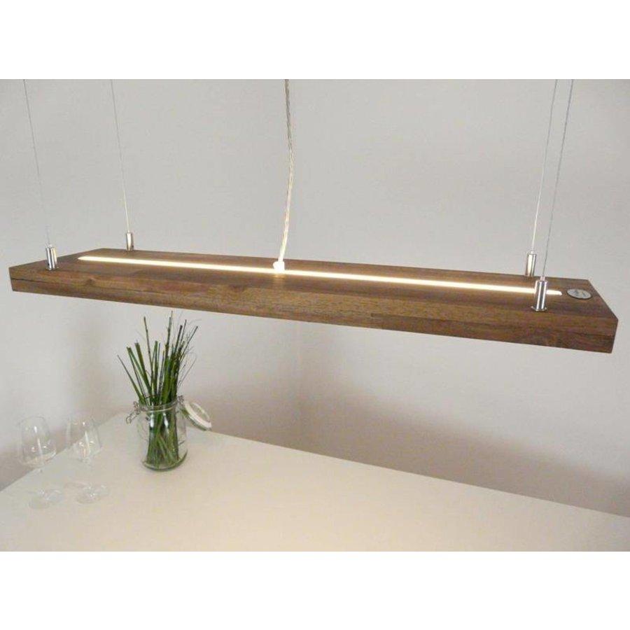 Hängelampe Holz Akazie mit Ober und Unterlicht-1