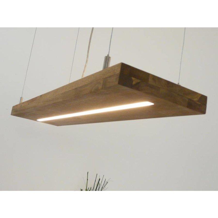 Hängelampe Holz Akazie mit Ober und Unterlicht-5
