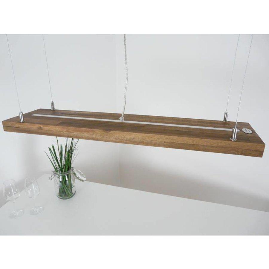 Hängelampe Holz Akazie mit Ober und Unterlicht-7