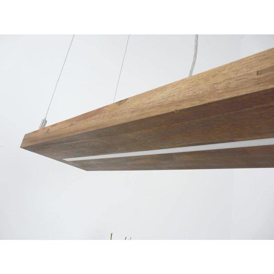 Hängelampe Holz Akazie mit Ober und Unterlicht-8