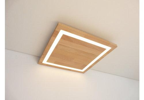 LED Deckenleuchte Holz Buche 39 cm x 39 cm
