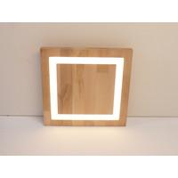 thumb-LED Deckenleuchte Holz Buche  30 x 30 cm-2