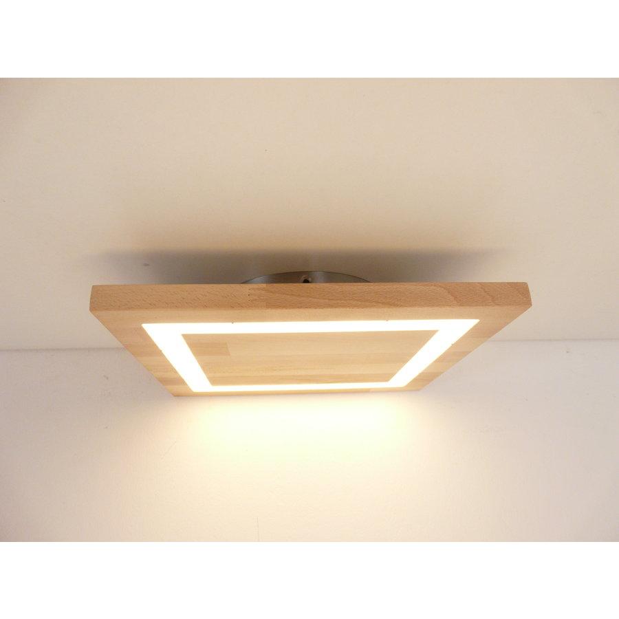 LED Deckenleuchte Holz Buche  30 x 30 cm-3