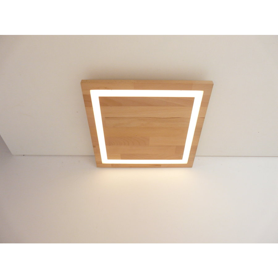 LED Deckenleuchte Holz Buche  30 x 30 cm-4