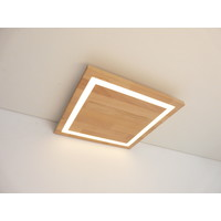 thumb-LED Deckenleuchte Holz Buche  30 x 30 cm-1