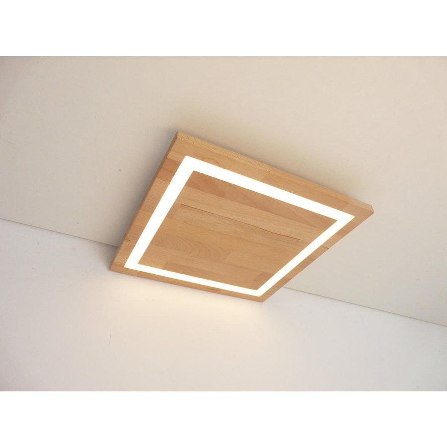 LED Deckenleuchte Holz Buche  30 x 30 cm-1