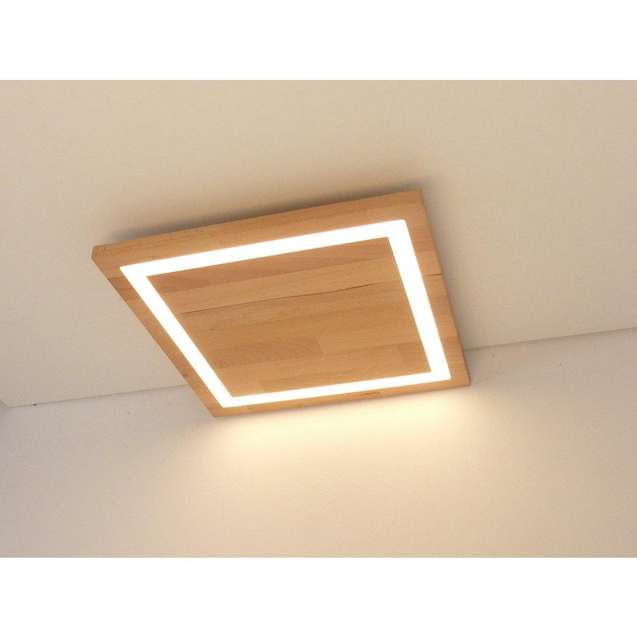 LED Deckenleuchte Holz Buche  30 x 30 cm-7