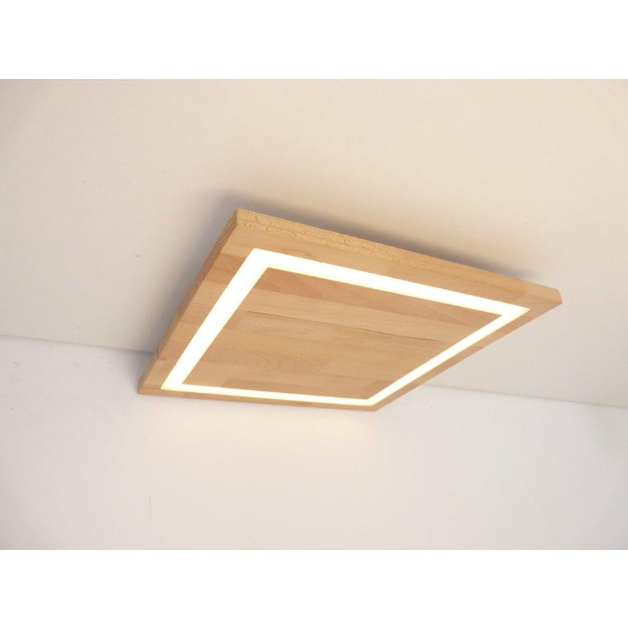 LED Deckenleuchte Holz Buche  30 x 30 cm-9