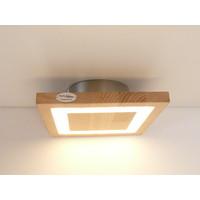 thumb-kleine LED Deckenleuchte Holz Buche  20 x 20 cm-1