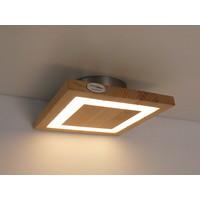 thumb-kleine LED Deckenleuchte Holz Buche  20 x 20 cm-2