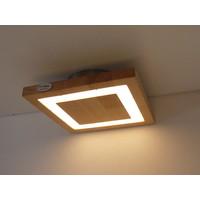 thumb-kleine LED Deckenleuchte Holz Buche  20 x 20 cm-4