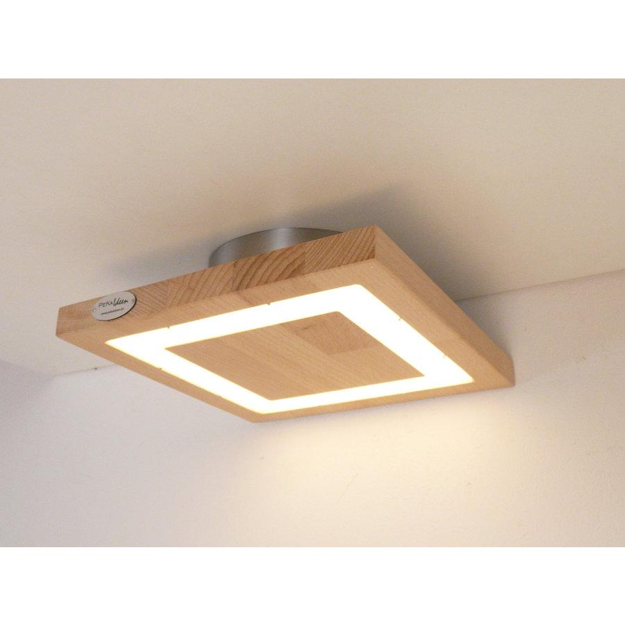 kleine LED Deckenleuchte Holz Buche  20 x 20 cm-6